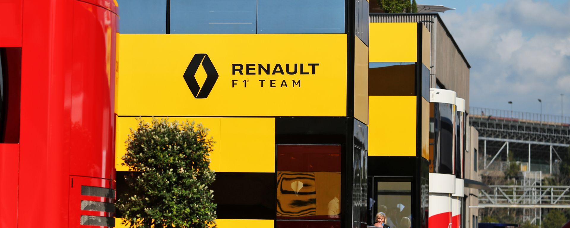 F1 2020: il motorhome della Renault