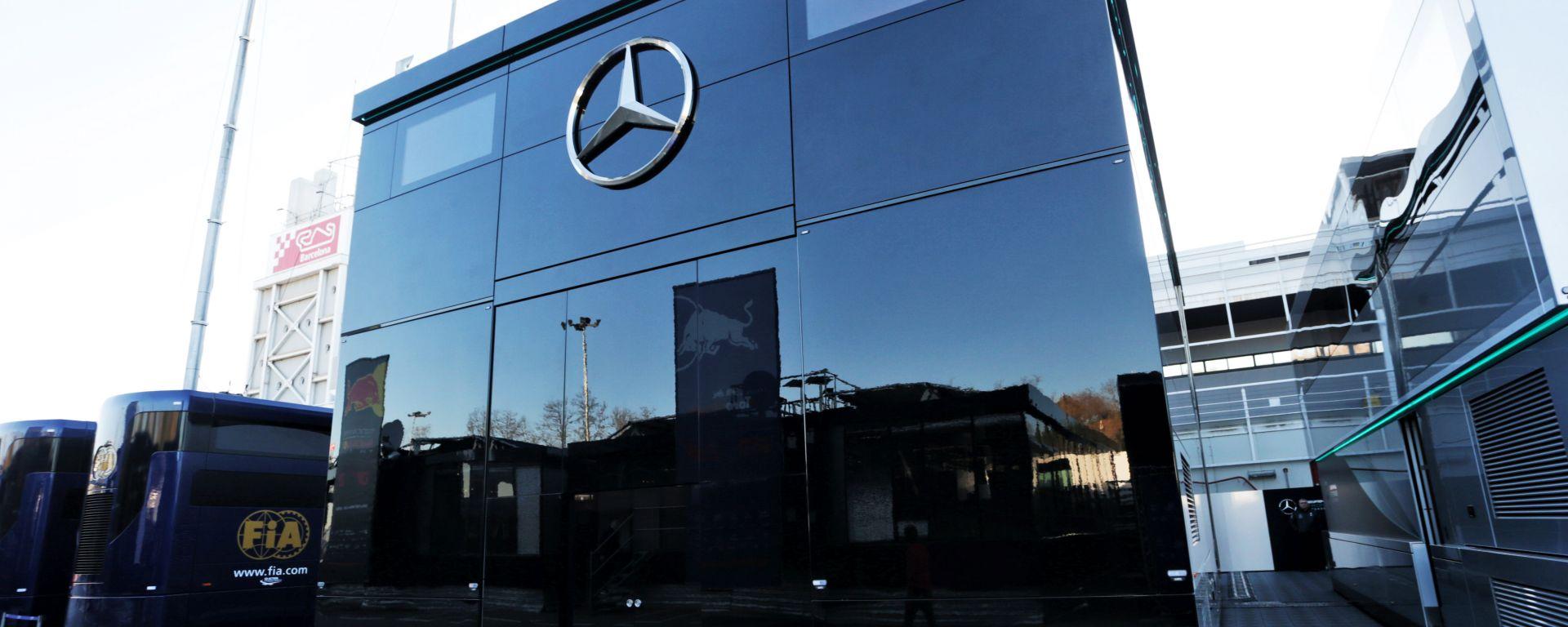 F1 2020: il motorhome Mercedes