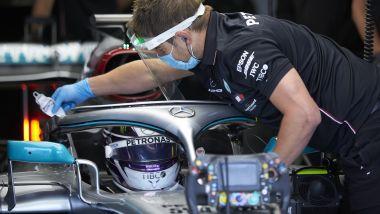 F1 2020, il secondo giorno di protocol-run Mercedes a Silverstone con Lewis Hamilton - Foto 8/8