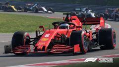 F1 2020: la Ferrari di Vettel impegnata in Ungheria