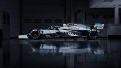 F1 2020, la nuova livrea della Williams FW43 (vista laterale)