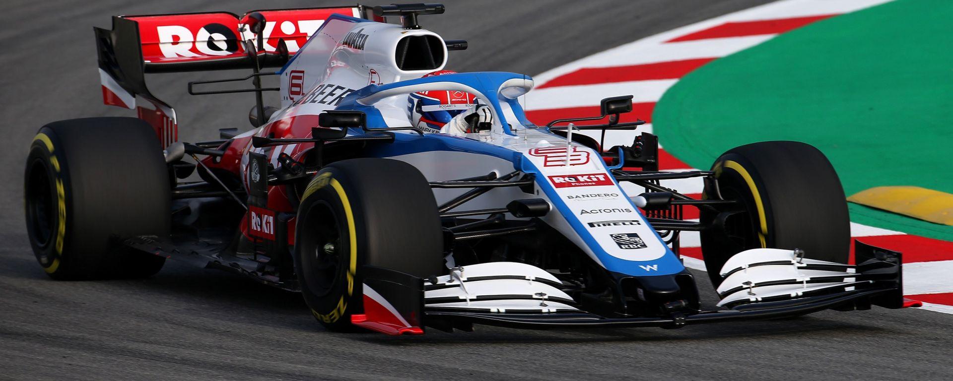 F1 2020: la Williams FW43 impegnata nello shakedown a Barcellona