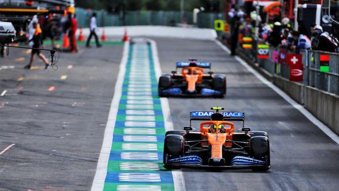 F1 2020: le McLaren di Lando Norris e Carlos Sainz