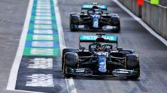 F1 2020: le Mercedes di Lewis Hamilton e Valtteri Bottas
