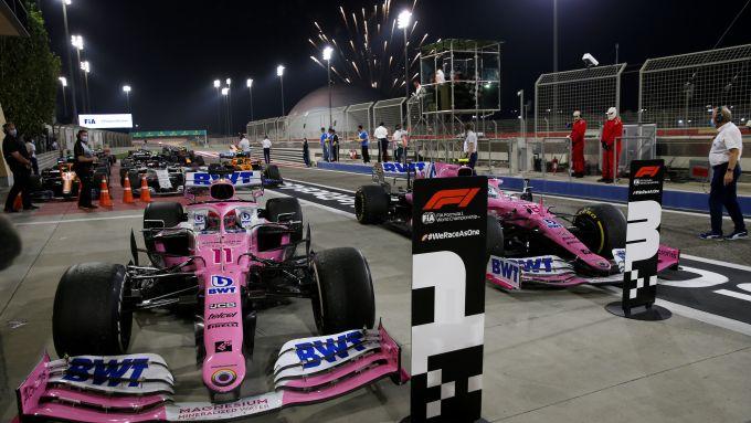 F1 2020: le Racing Point di Sergio Perez e Lance Stroll