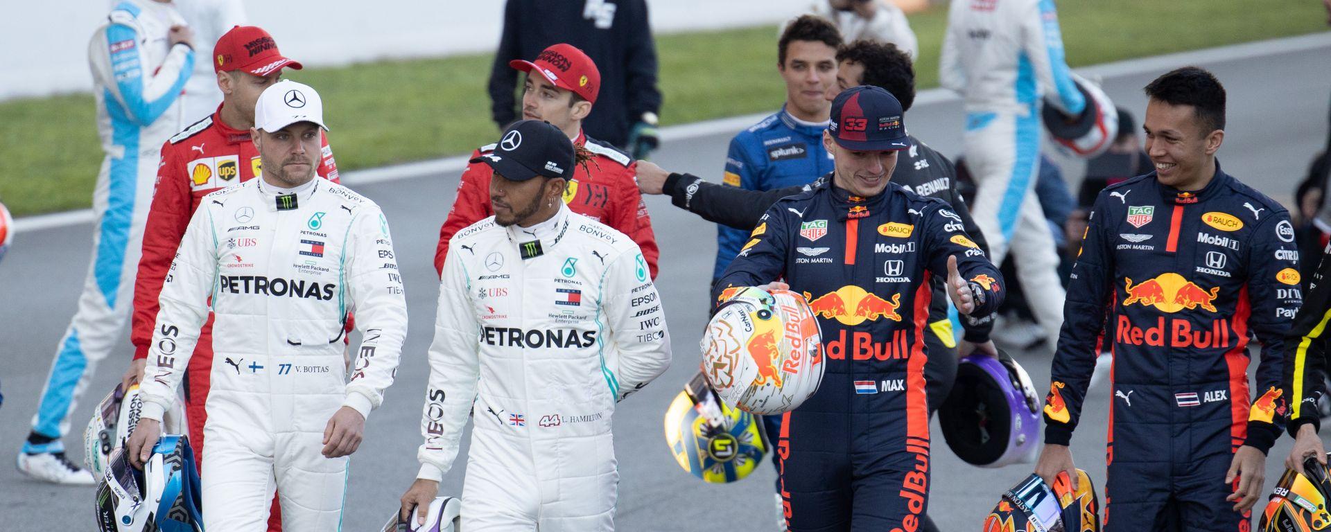 F1 2020: Lewis Hamilton, Valtteri Bottas, Max Verstappen e Alex Albon