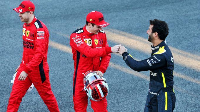 F1 2020: Sebastian Vettel, Charles Leclerc e Daniel Ricciardo