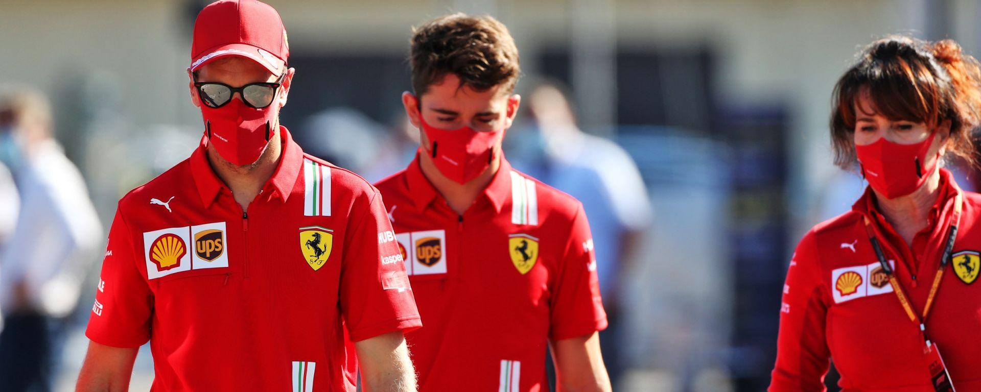 F1 2020: Sebastian Vettel e Charles Leclerc (Ferrari)