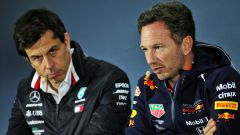 F1 2020: Toto Wolff (Mercedes) e Christian Horner (Red Bull)