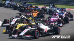 F1 2020: un momento della partenza