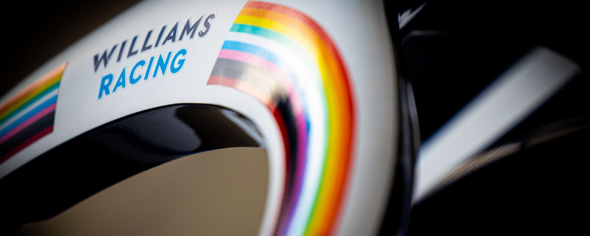 F1 2020, un particolare della Williams FW43 della passata stagione