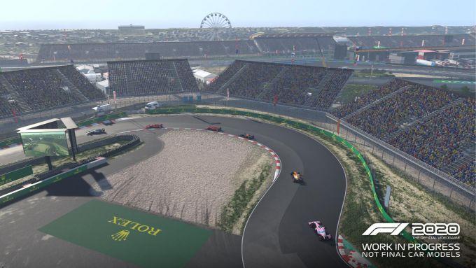 F1 2020: una visuale dall'alto del circuito di Zandvoort