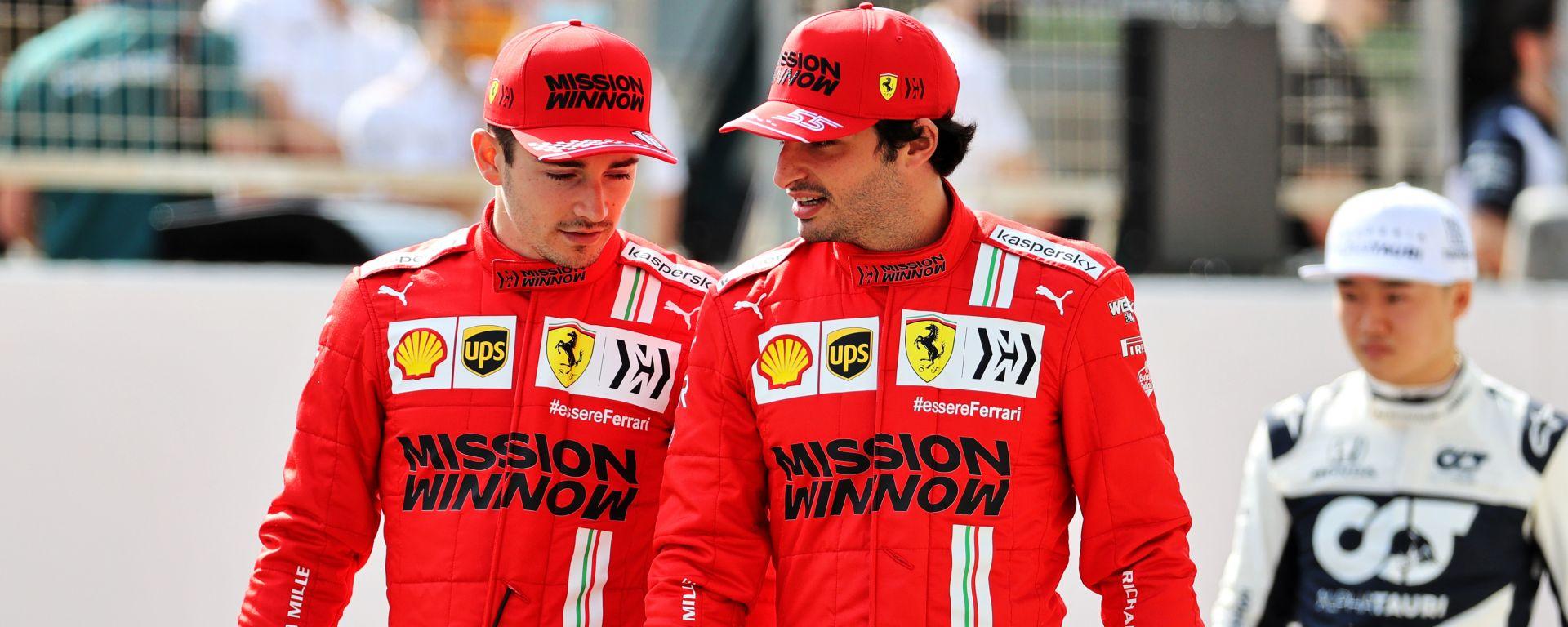 F1 2021: Charles Leclerc e Carlos Sainz (Ferrari)