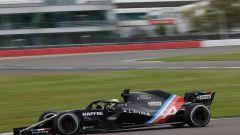 F1 2021, Guanyu Zhou al volante della Renault R.S.19 a Silverstone con colori Alpine