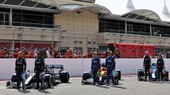 F1 2021, i piloti in griglia per le foto di rito