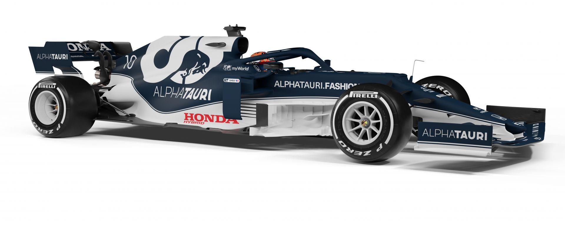 F1 2021, la Scuderia AlphaTauri AT02 (vista 3/4 anteriori)