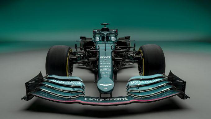 F1 2021, le immagini da studio dell'Aston Martin AMR21