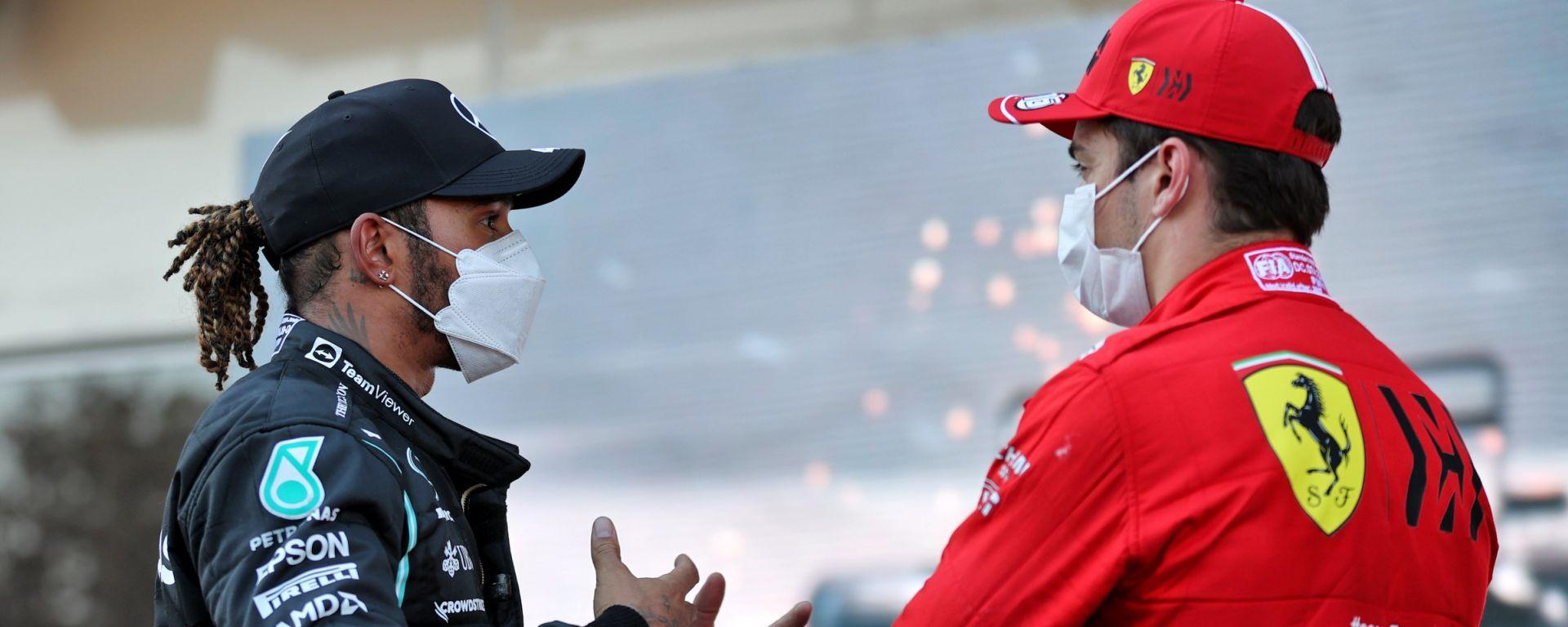 F1 2021: Lewis Hamilton con Charles Leclerc