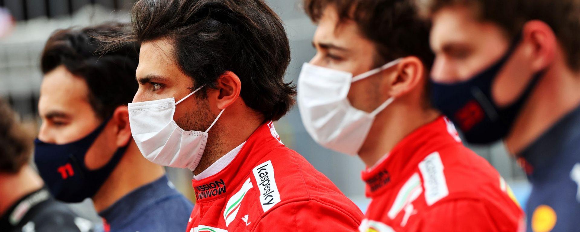 F1 2021: Max Vestappen, Charles Leclerc, Carlos Sainz e Sergio Perez