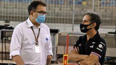 F1 2021: Nikolas Tombazis a colloquio con Davide Brivio (Alpine)