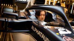 F1 2021, Yuki Tsunoda nell'abitacolo della Scuderia AlphaTauri AT02