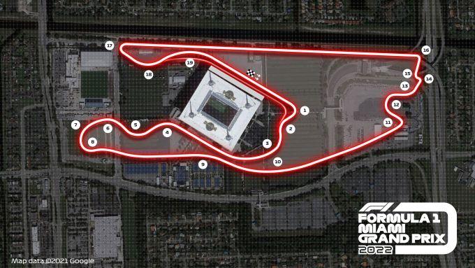 F1 2022, la mappa del circuito cittadino di Miami