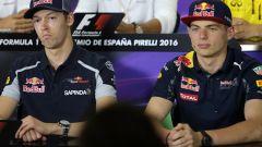 F1, a Barcellona nel 2016 l'altro clamoroso scambio di casa Red Bull: quello di Kvyat con Verstappen