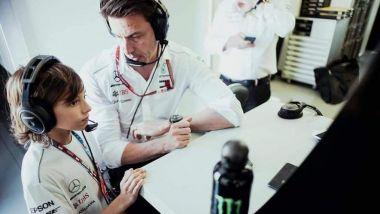 F1, Andrea Kimi Antonelli con Toto Wolff (Mercedes AMG F1) | Foto: Instagram @Kimi.Antonelli.Official