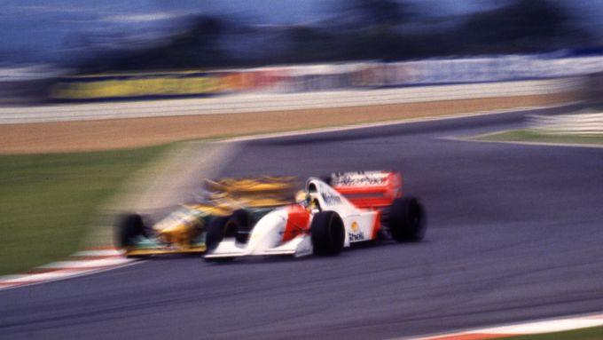 F1, Ayrton Senna e Michael Schumacher in pista