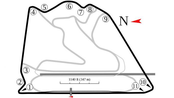 F1: Bahrain International Circuit, layout Outer Circuit