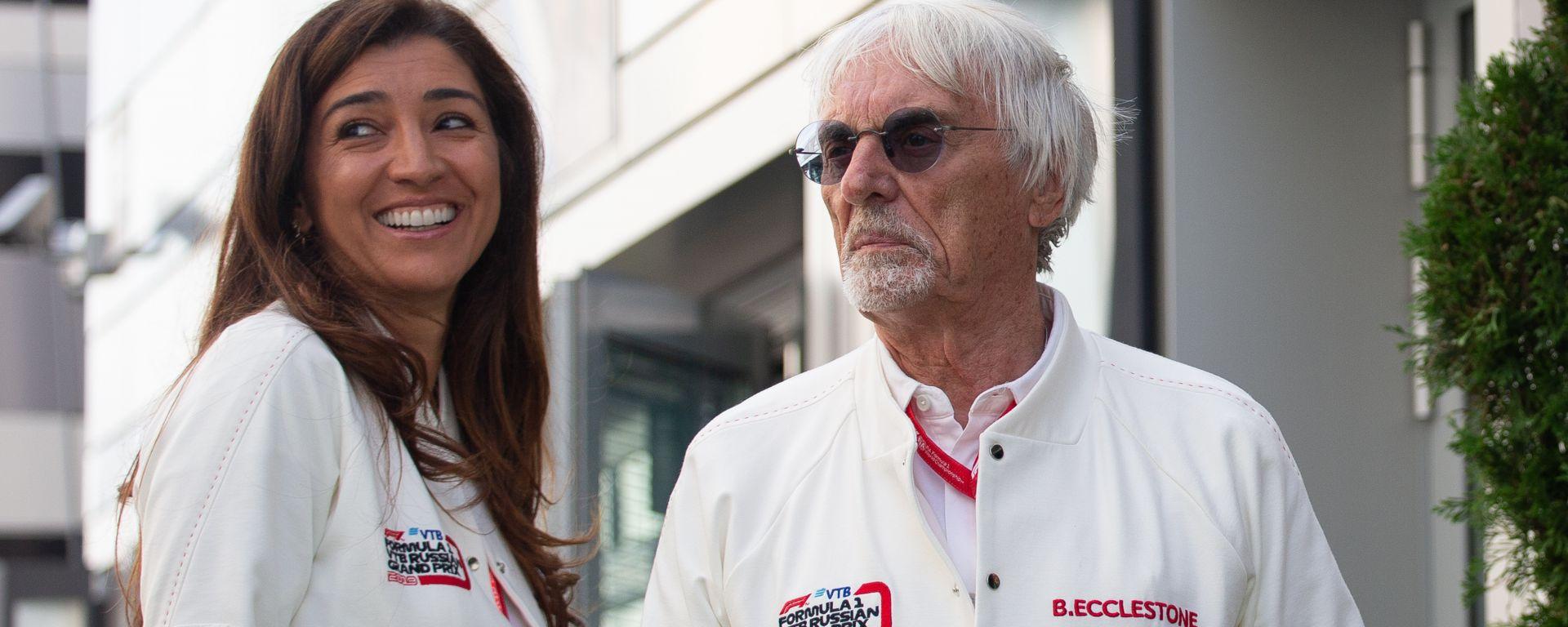 F1: Bernie Ecclestone e la moglie Fabiana
