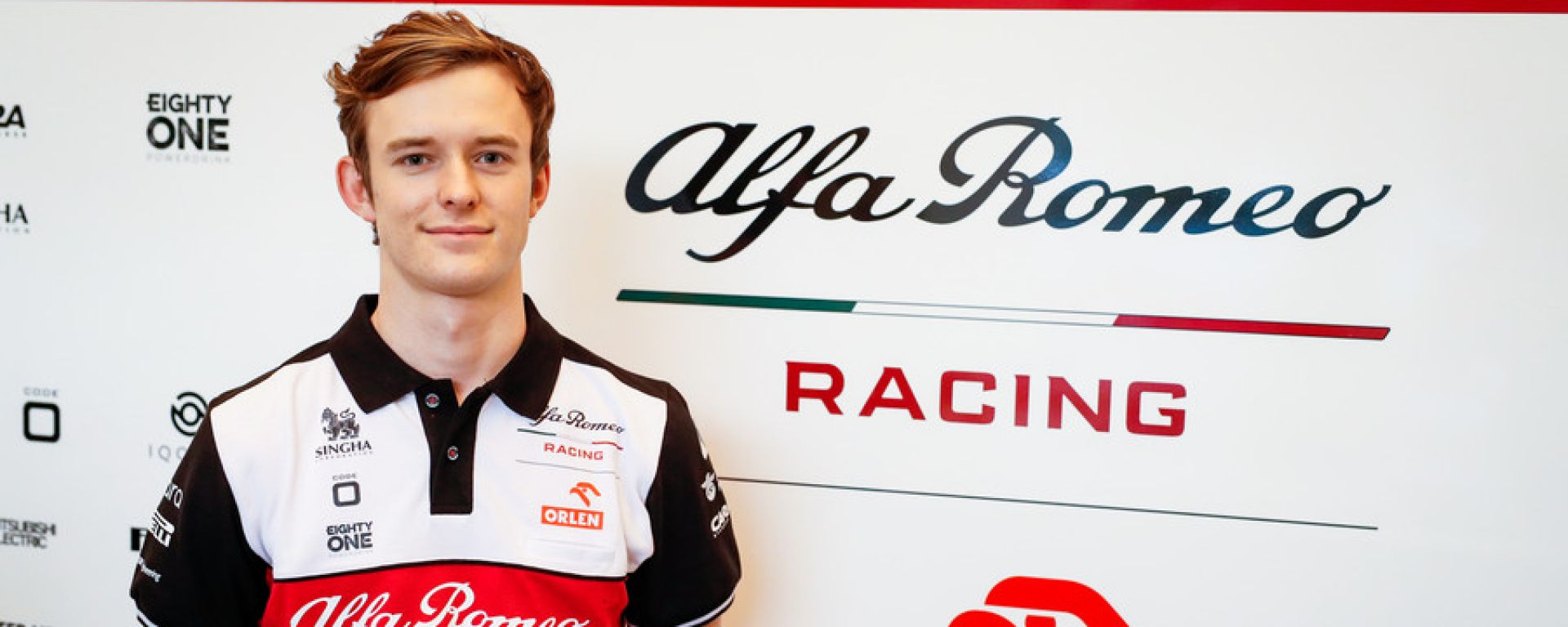 F1, Callum Ilott con la divisa del team Alfa Romeo Racing