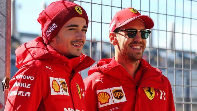F1: Charles Leclerc e Sebastian Vettel (Ferrari)