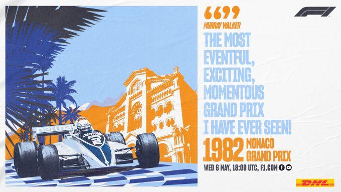 F1 Classics, la locandina del Gp Monaco 1982 stasera su Youtube