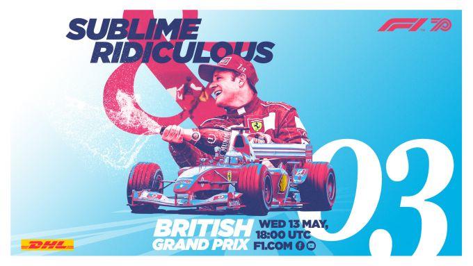 F1 Classics, la locandina del GP Silverstone 2003 su YouTube