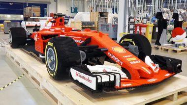 F1 di LEGO, la Ferrari SF70H che deteneva il record precedente