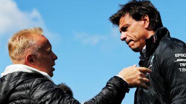 F1, Dmitry Mazepin a colloquio con il team principal della Mercedes, Toto Wolff