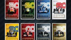 La Formula 1 celebra i 70 anni con 8 poster esclusivi - Immagine: 1