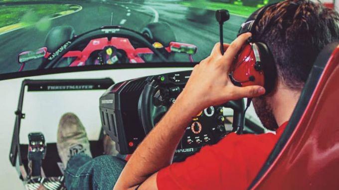 F1 eSport Series 2019, Amos Laurito (Ferrari Driver Academy Esports) durante un allenamento