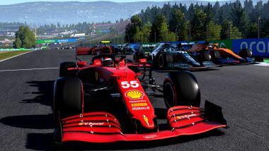F1 Esports: la Ferrari di Carlos Sainz in Codemasters F1 2021