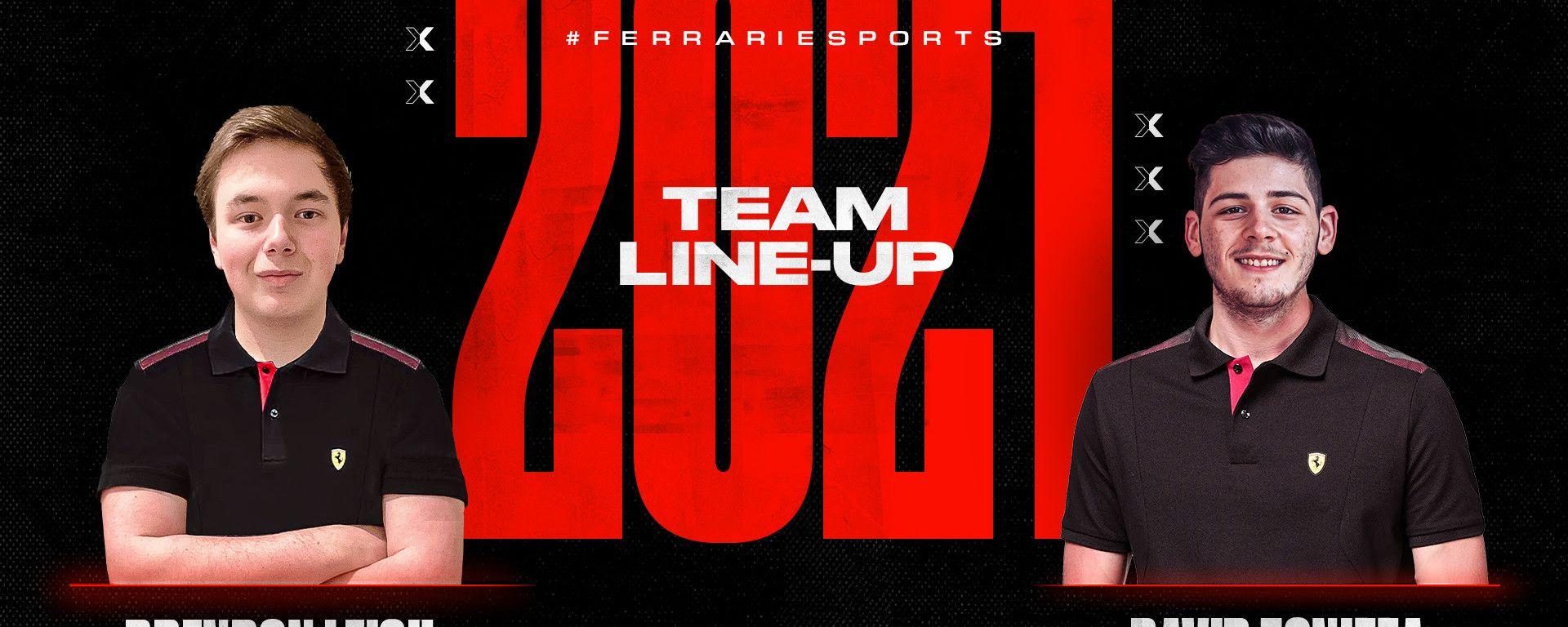 F1 Esports Series 2021: Brendon Leigh e David Tonizza, nuova coppia Ferrari FDA Esports Team