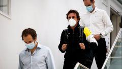 Debutto in pista per Alonso con la Renault