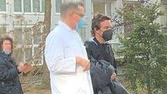 F1: Fernando Alonso lascia l'ospedale di Berna