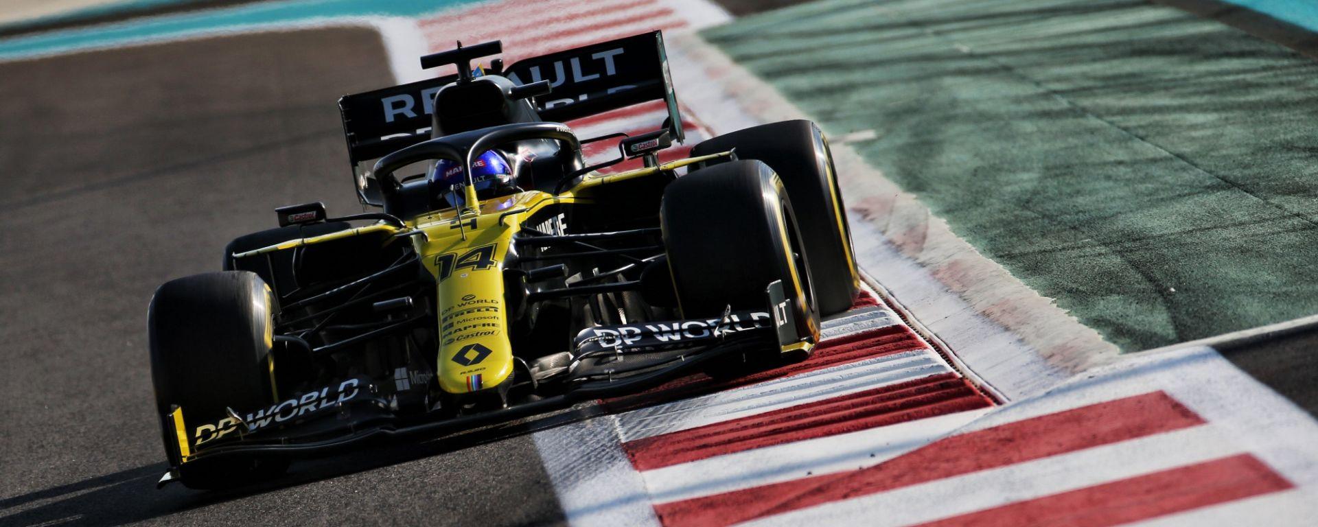 F1, Fernando Alonso (Renault) ai test giovani di Abu Dhabi 2020