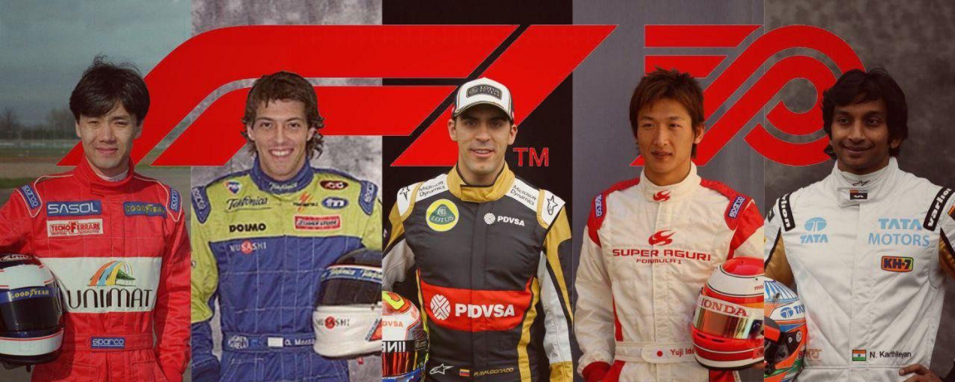 F1, GP 70° anniversario: il tributo a 5 campioni