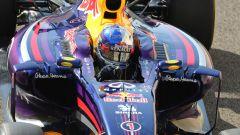 F1 GP Abu Dhabi 2014, Yas Marina: Sebastian Vettel con il numero 1 sulla Red Bull