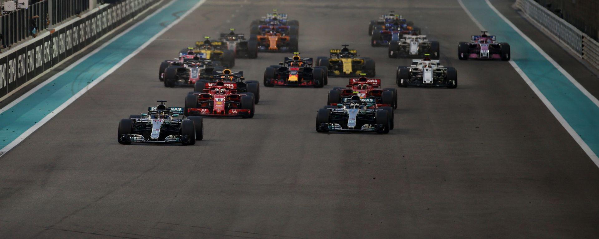 F1 GP Abu Dhabi 2018, Yas Marina, la partenza