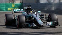 F1 GP Abu Dhabi 2018, Yas Marina: Lewis Hamilton con il numero 1 sulla Mercedes nelle PL1