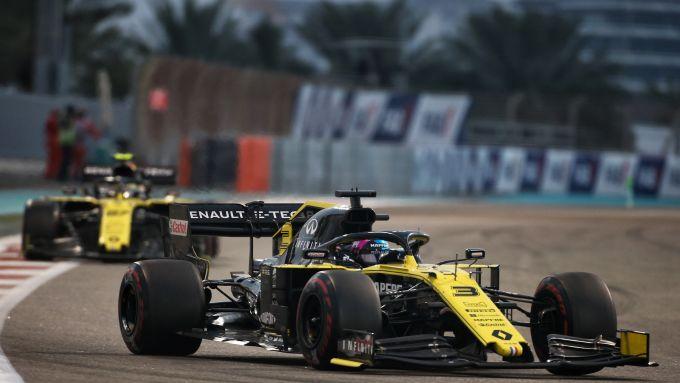 F1, GP Abu Dhabi 2019: le Renault di Daniel Ricciardo e Nico Hulkenberg