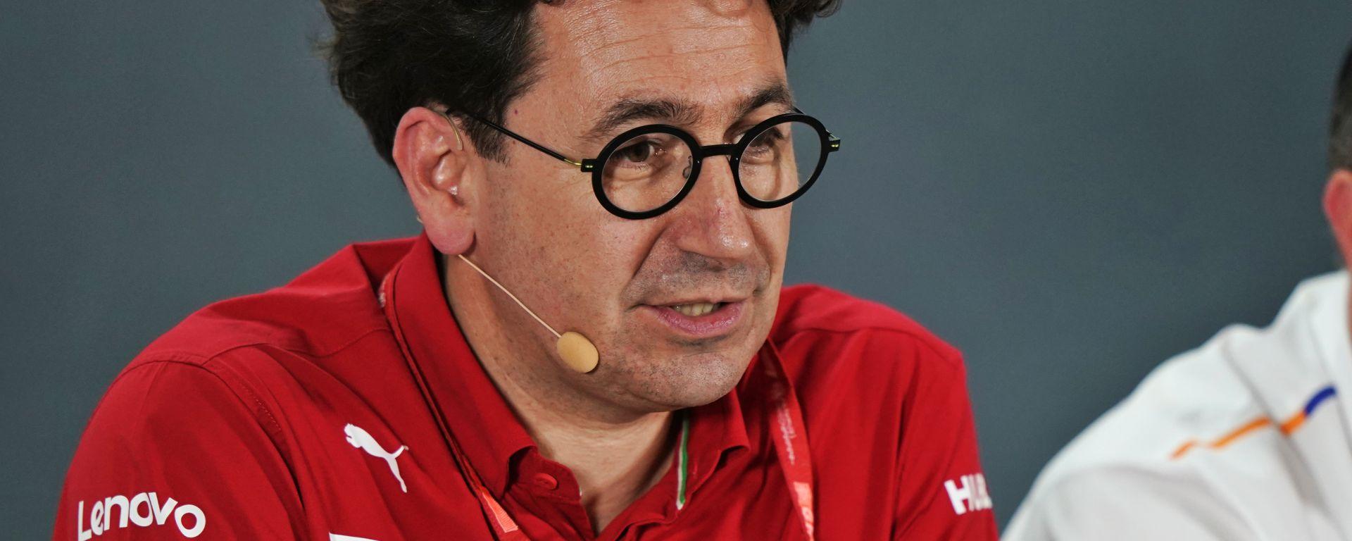 F1, GP Abu Dhabi 2019: Mattia Binotto (Ferrari) in conferenza stampa